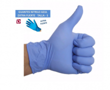 24  GUANTES DE LATEX NATURAL  AZULES  EXTRA MULTIUSOS