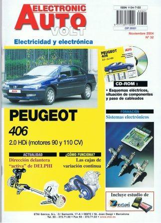 MANUAL DE TALLER PEUGEOT 406 HDI. ELECTRICIDAD + CD ROM  EAV32