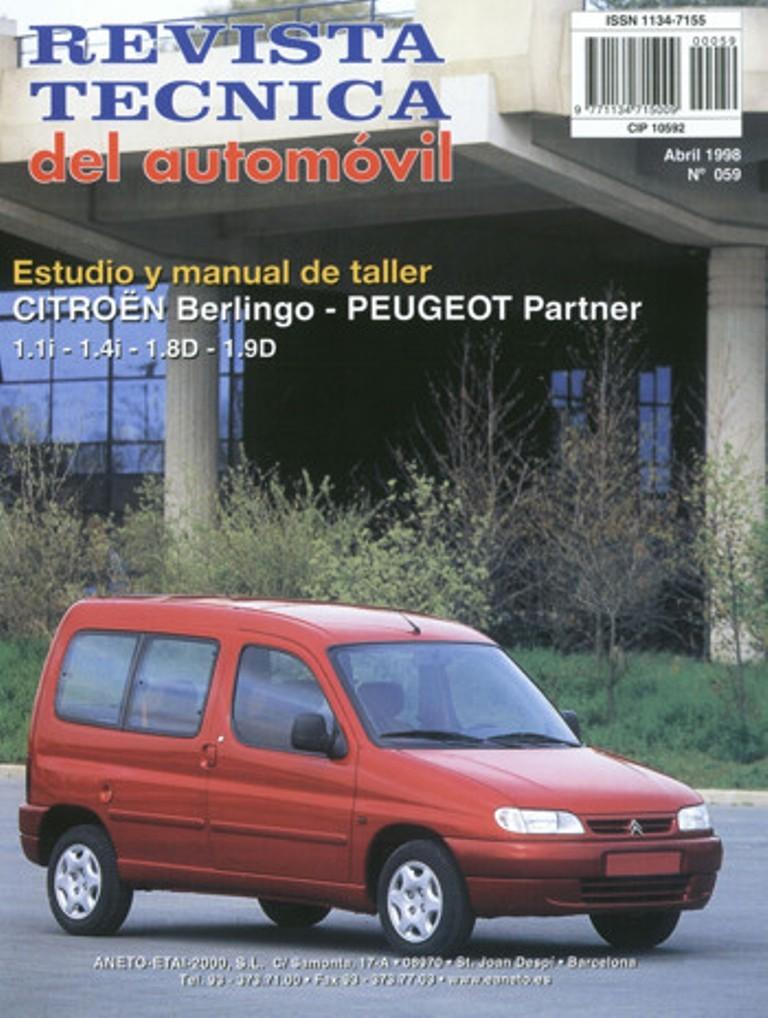 MANUAL DE TALLER Y MECANICA CITROEN  BERLINGO/PEUGEOT PARTNER,desde 1996  RT59