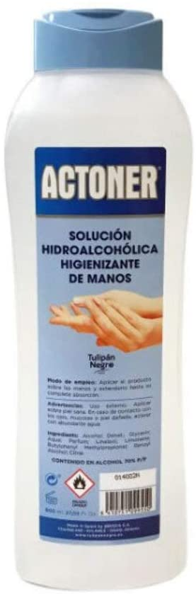 GEL HIDROALCOHOLICO ANTISEPTICO Bactericida, levaduricida, fungicida, ACTONER de 800 ml.