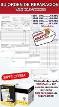 2000 PARTES DE TRABAJO,+ 2000 FOLIOS HP, especial talleres mecánicos,(Envio Gratis)