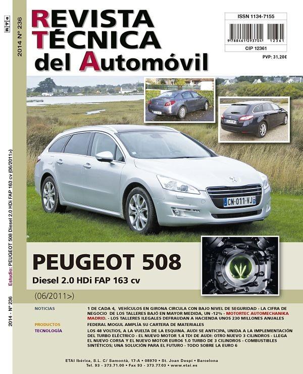 MANUAL DE TALLER MECANICA  PEUGEOT 508 2.0 HDI 163CV 4/2011 R236