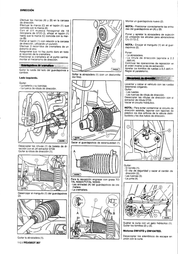 MANUAL DE TALLER Y REPARACION MECANICA PEUGEOT 206 gas y diesel -1998-2004