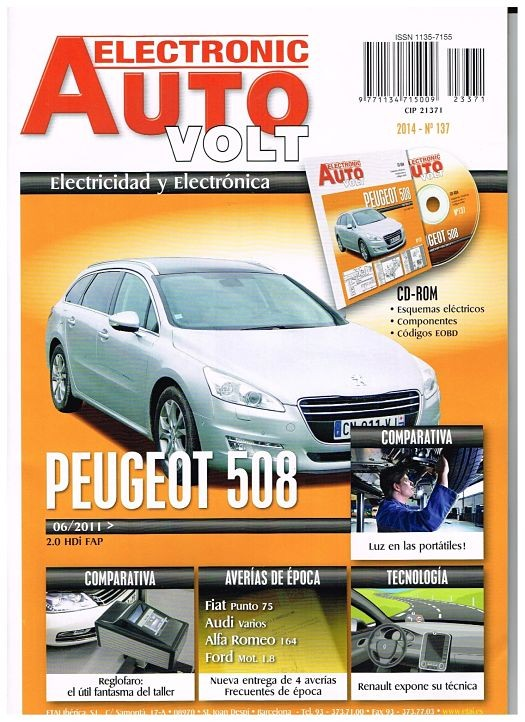 MANUAL ELECTRICO DE TALLER PEUGEOT 508  06/2011 2.0 HDI + CD ROM ELECTRICIDAD E137