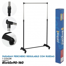 PERCHERO REGULABLE EN ALTURA 81X40X90-160 CM. CON 4 RUEDAS-ENVIO GRATIS