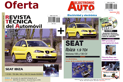 MANUAL DE TALLER SEAT ibiza tdi 2002+MANUAL ELECTRICO Y CD ROM + PACK ACCESORIOS