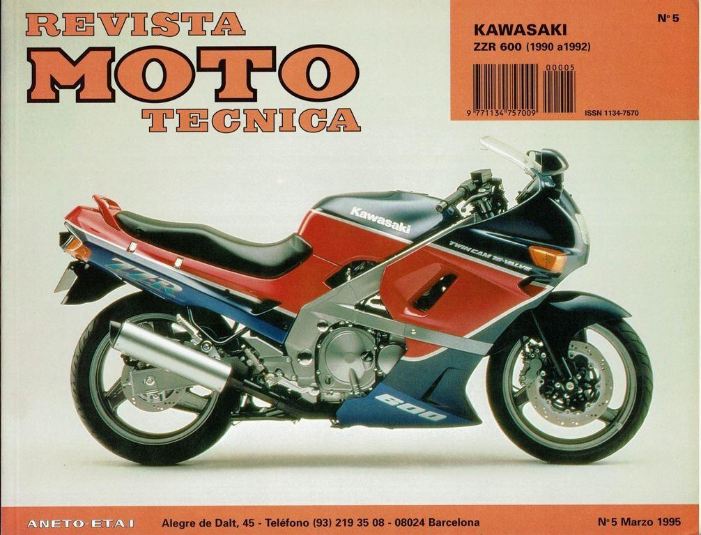 MANUAL TALLER Y REPARACION MOTO KAWASAKI  ZZR 600-1990-1992