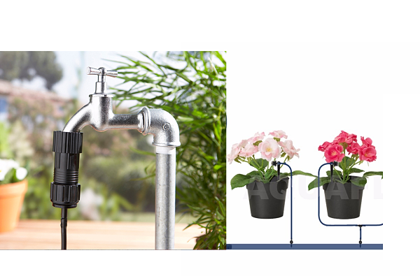 Kit de riego automatico goteo con reductor grifo 14 for Riego automatico jardin