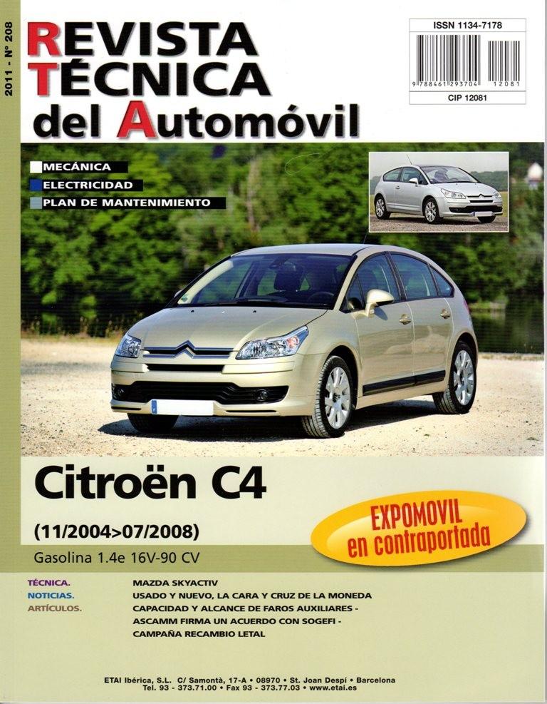 manual de taller y mecanica citroen c4 1 4e 90 cv 11  2004