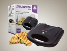 SANDWICHERA ELECTRICA PORTATIL ANTIHADERENTE