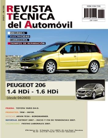 MANUAL DE TALLER Y MECANICA PEUGEOT 206 1.4 Y 1.6 HDI DESDE 2003 RT155