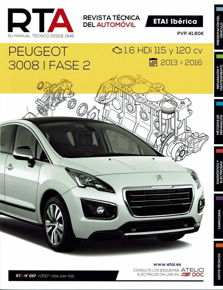 MANUAL DE TALLER y MECANICA PEUGEOT 3008 FASE 2-1.6 HDi- 2013-16 R267