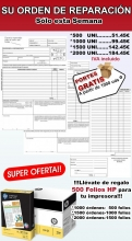 1500 PARTES DE TRABAJO + 1000 FOLIOS HP, Especial talleres mecánicos-(Envio Gratis)1