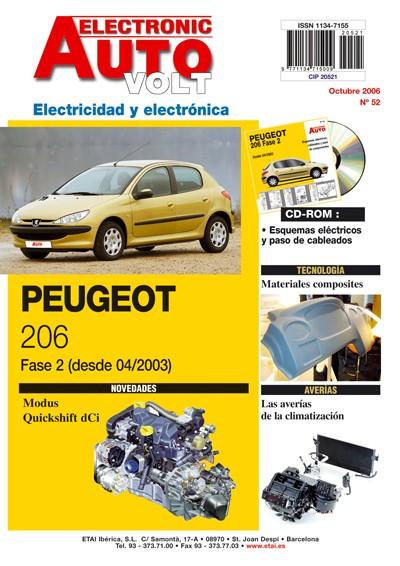MANUAL DE TALLER PEUGEOT 206 HDI. ELECTRICIDAD + CD ROM 4/03  EAV52