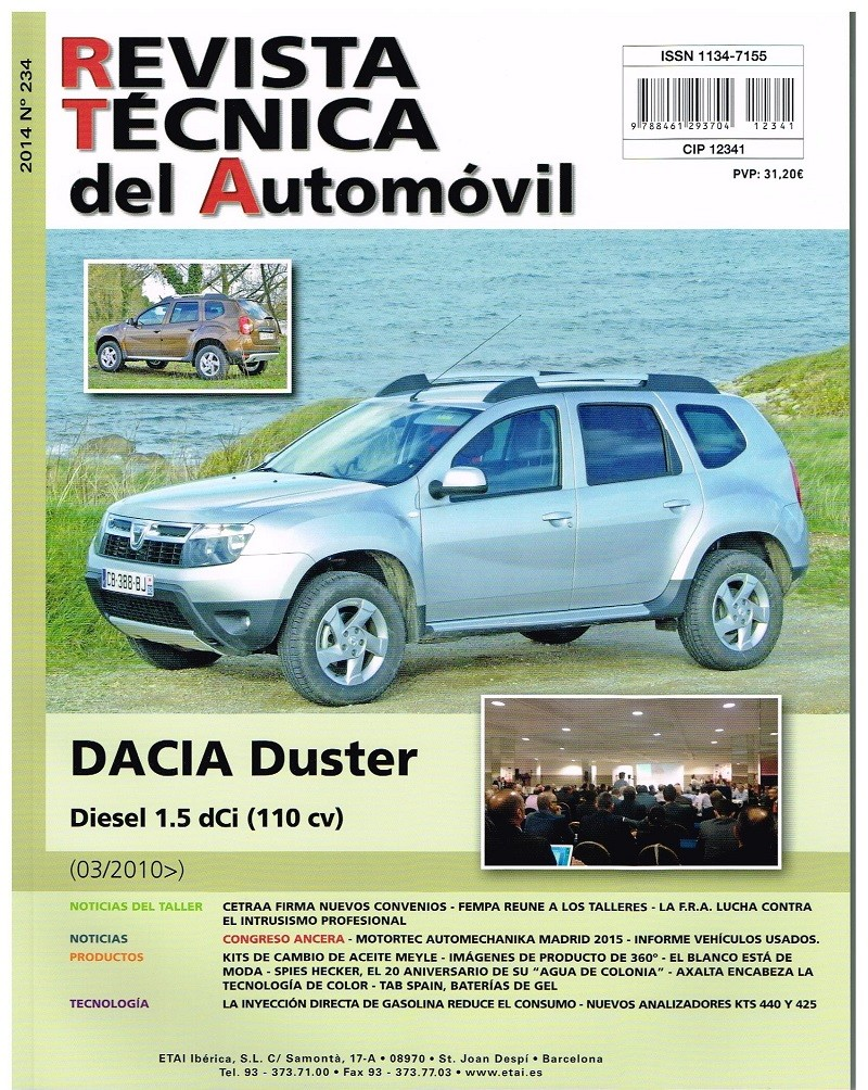 manual de taller dacia duster desde 3 2010 rt234 diesel 1. Black Bedroom Furniture Sets. Home Design Ideas