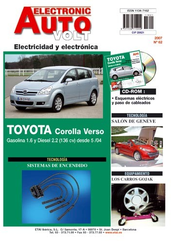 MANUAL DE TALLER TOYOTA COROLLA VERSO desde 2004 EAV 62+ CD ROM ELECTRICIDAD