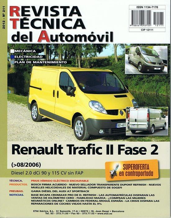 MANUAL DE MECANICA Y ELECTRICIDAD RENAULT TRAFIC II (08/2006) 2.0 DCI 90 Y 115 CV Nº211
