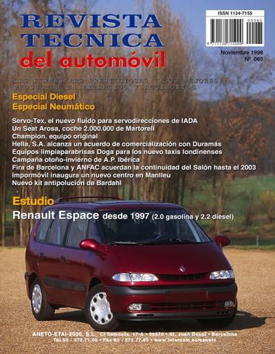 MANUAL DE TALLER RENAULT  ESPACE 2.0 GASOLINA.y 2.2 TD DESDE 1997 Nº65