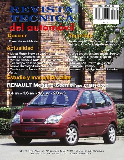 MANUAL DE TALLER RENAULT MEGANE y SCENIC 1.4-1.6-1.8 Y 2.0 DEL 99-2001 Nº101