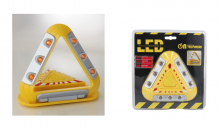 TRIANGULO DE EMERGENCIA SEGURIDAD COCHE ACCIDENTE, 9 LEDS BASE IMANTADA