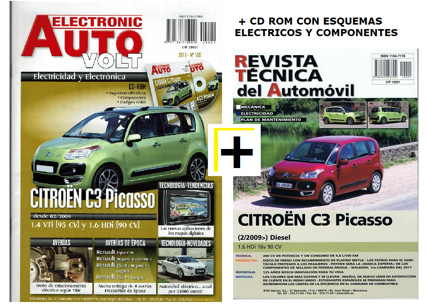 MANUAL DE TALLER CITROEN C3 PICASSO + Manual electricidad y CD ROM Nº 100+TESTER,desde 2009