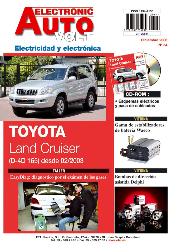 MANUAL DE TALLER TOYOTA LAND CRUISER 3.0 D4D (DESDE 2003)EAV Nº 054+ CD ROM ELECTRICIDAD