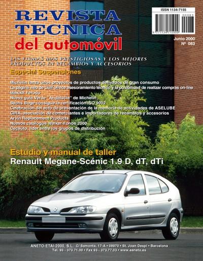 MANUAL DE TALLER Y MECANICA RENAULT MEGANE Y SCENIC DIESEL 1996-1998 Nº 83