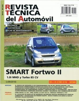 MANUAL DE TALLER SMART FORTWO II 1.0 MHD Y TURBO DE 85 CV DESDE 9/2010 RT215