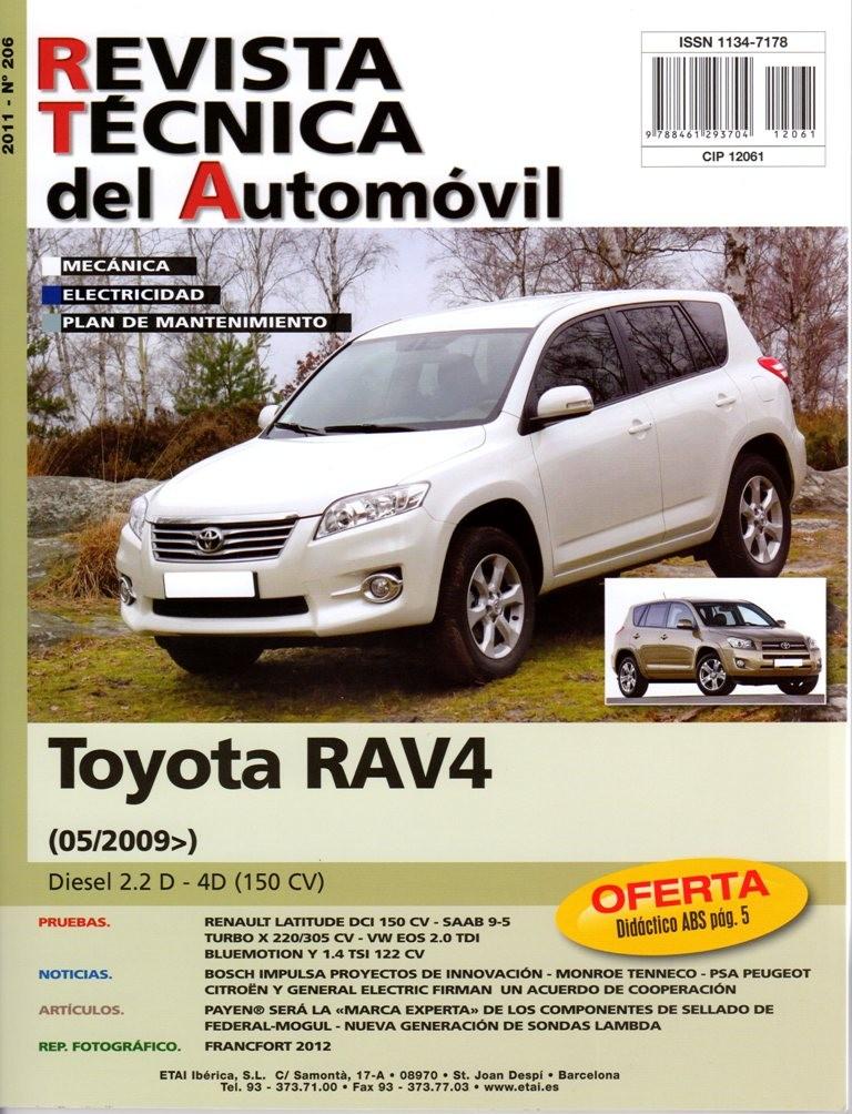 MANUAL DE TALLER TOYOTA RAV IV 2.2 D 150 CV 5/2009 Nº206
