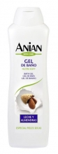 ANIAN Gel baño leche y almendras piel seca 750 ml