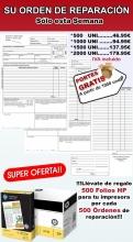 500 PARTES DE TRABAJO+ 500 FOLIOS HP