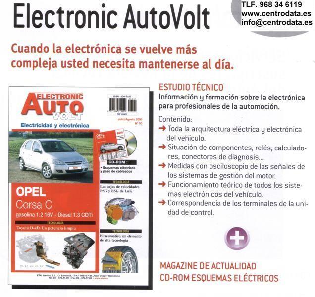 Manuales de Taller Electrónica y Componentes+CD rom esquemas electricos,Autovolt,2012
