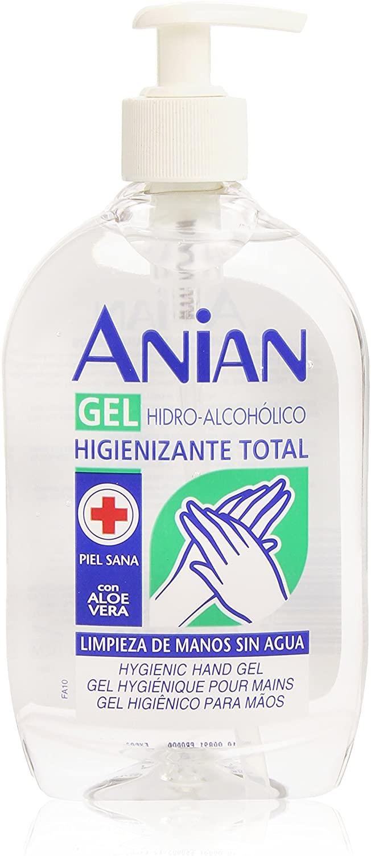 GEL HIDROALCOHOLICO ANTISEPTICO Anian Gel Desinfectante  500 ml