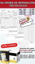 1000 PARTES DE TRABAJO + 500 FOLIOS HP  especial talleres mecánicos-(ENVIO GRATIS)