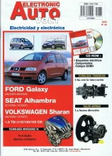 MANUAL DE TALLER VOLKSWAGEN SHARAN 1.9 TDi EAV88+CD ROM Electricidad