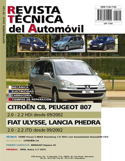 Manual De Taller Citroen C8  Peugeot 807