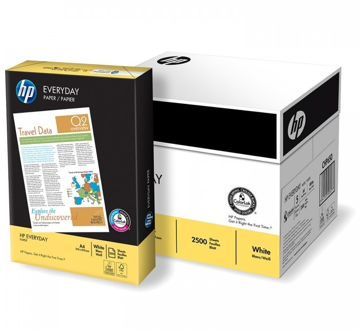 PAPEL DIN A4  HP EVERYDAY 5 PAQUETES X 500 HOJAS PARA IMPRESION LASER O INKJET