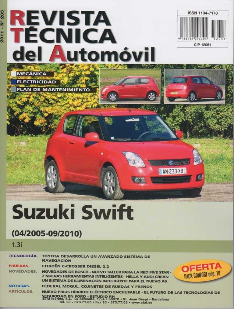 MANUAL DE TALLER SUZUKI SWIFT 1.3 DESDE 04-05/09-2010 Rª205+TESTER