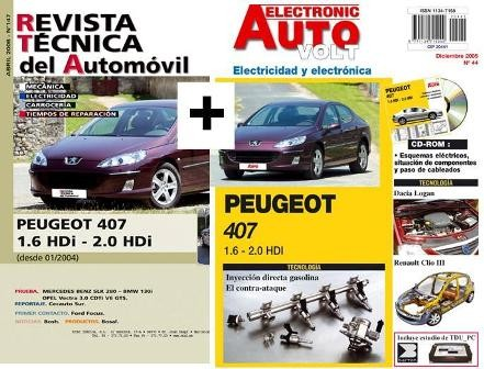 MANUAL DE TALLER PEUGEOT 407 HDI 1.6-2.0 DESDE 2004 +Y ELECTRICIDAD+CD ROM +REGALO