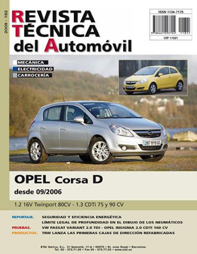 MANUAL DE REPARACION OPEL CORSA D DESDE 2006 GASOLINA Y DIESEL R182