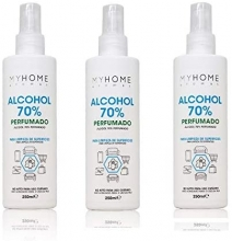 70% alcohol limpieza perfumado myhome spray 250ml solución hidralcohólica para superficies