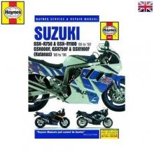 MANUAL DE TALLER SERVICIO Y REPARACION MOTO SUZUKI GSX 750F Y GSX 1100-1985-1995 en ingles