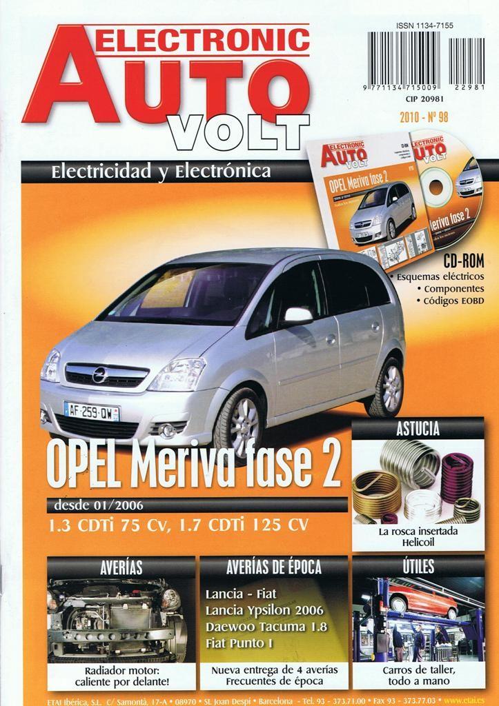 MANUAL DE TALLER ELECTRICO OPEL MERIVA FASE 2 + CD ROM Rª98 DESDE 01-2006