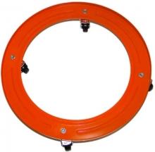 Com Gas 10118-Soporte metálico bombona, Ruedas, Metal, Multicolor, 30x4x30 cm