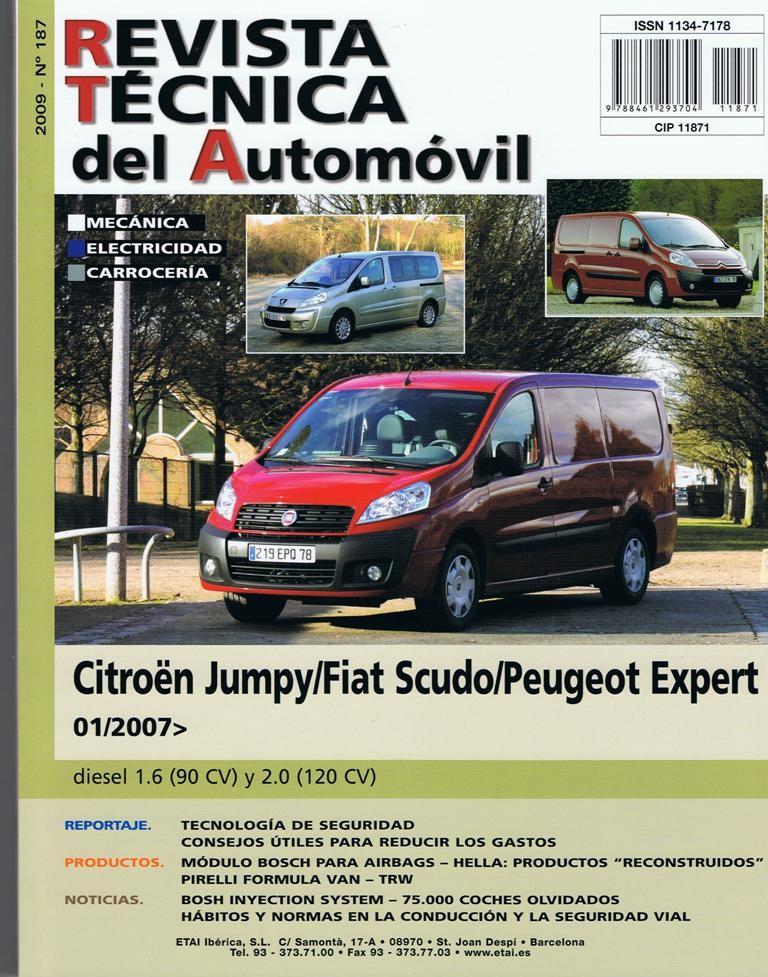MANUAL DE TALLER Y MECANICA  FIAT SCUDO DIESEL 1.6 y 2.0 DESDE 1/2007 RT187