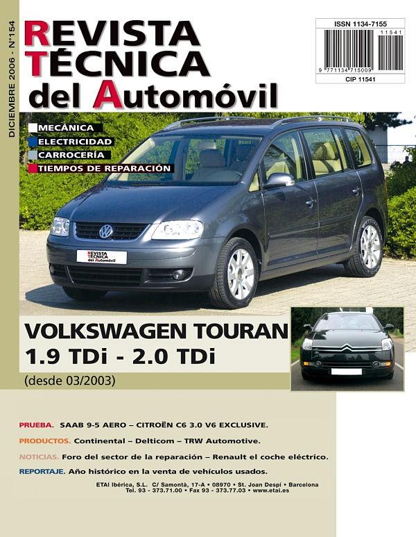 MANUAL DE TALLER  VOLKSWAGEN GOLF TOURAN desde 2003 R154