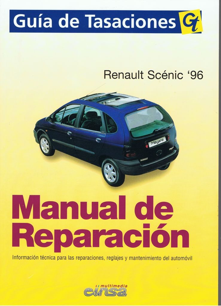 MANUAL DE REPARACIÓN RENAULT MEGANE & SCENIC 1996 GASOLINA y diesel 1.9D 1.9TD.+TESTER