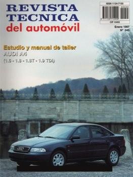 MANUAL DE TALLER AUDI A4 1.6 1.8 1.8T 1.9TDI DESDE 1995 RTA45