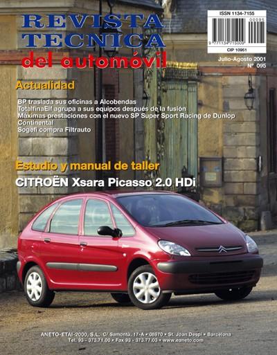 MANUAL DE TALLER Y MECANICA CITROEN XSARA PICASSO 2.0 HDI R95 +CD ROM De esquemas